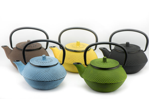Cast iron teapot colors