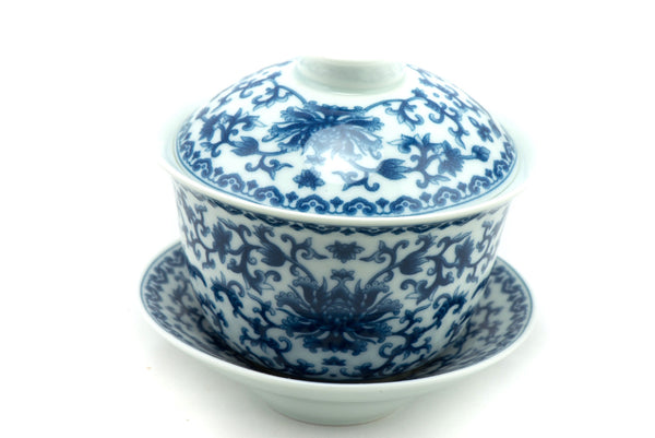 chrysanthemum flower gaiwan tea bowl