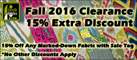 Fall 2016 Clearance Discount