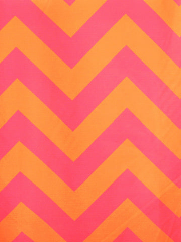 CHEVRON 2 ORANGE/PINK (Sheer)