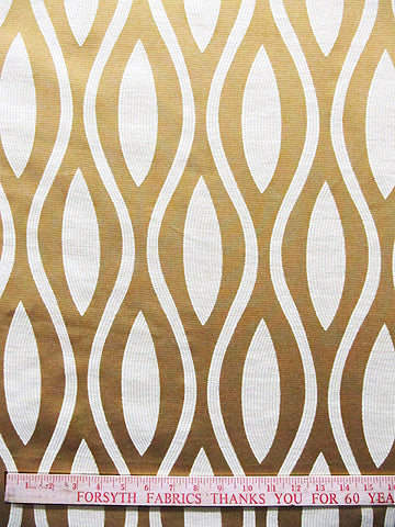 ogee fabric, geometric fabric, flocking