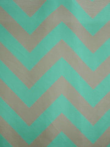 CHEVRON 2 GREY/AQUA (Sheer)