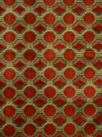 designer fabric, plush fabric, geometric fabric