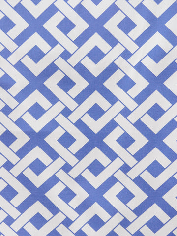 BOXED-IN PERIWINKLE (Outdoor Fabric)