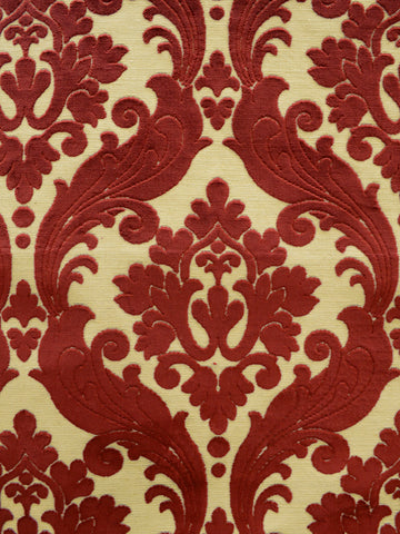 terracotta damask fabric, damask upholstery fabric, best fabric store in atlanta