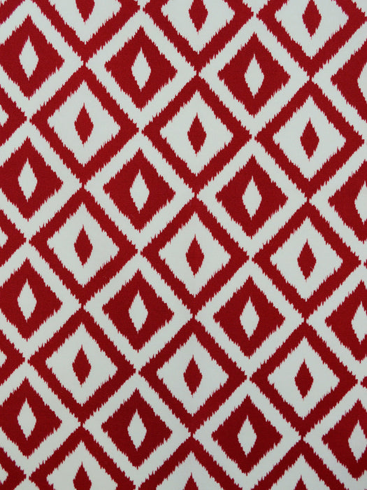 red geometric prints, red outdoor fabrics, red designer fabrics