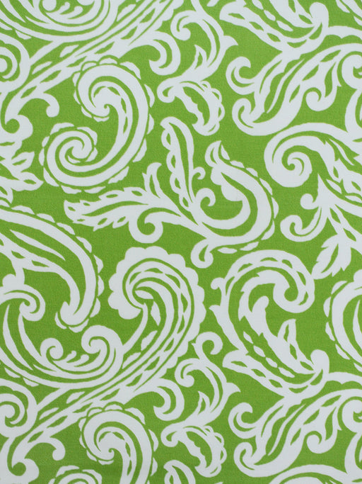 paisley outdoor fabric, green paisley outdoor fabric, green designer fabric