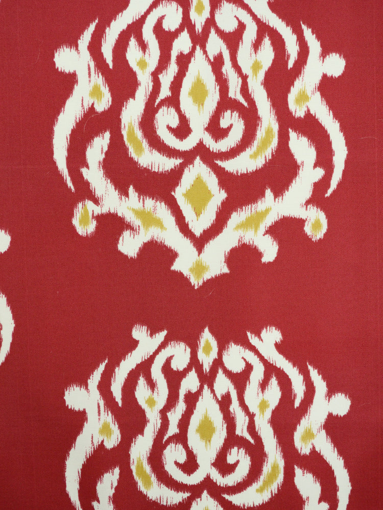burgundy outdoor fabric, ikat outdoor fabric, best fabric store  in atlanta