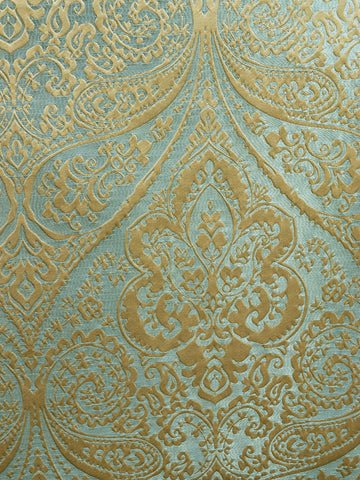 DAMASK LUCIDO FLOWER BLUE