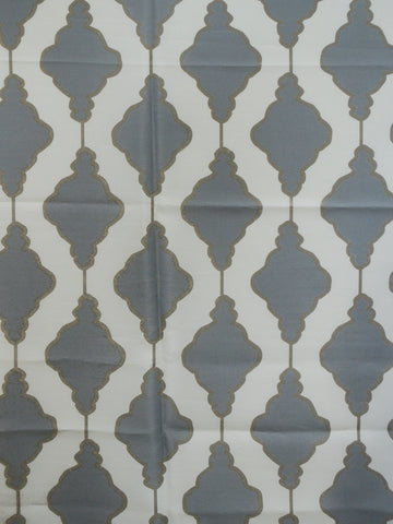 gray faux silk, gray geometric drapery fabric, faux silk drapery fabric