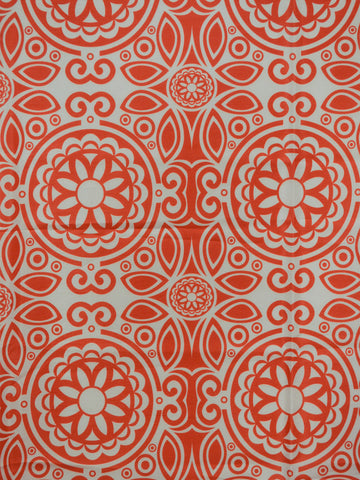 orange faux silk, suzani drapery fabric, faux silk drapery fabric