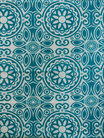 teal faux silk, suzani drapery fabric, faux silk drapery fabric