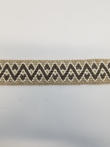 CHEVRON WOOL TAPE TAUPE