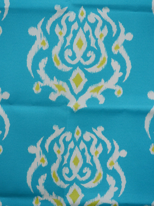 turquoise outdoor fabric, ikat outdoor fabric, best fabric store  in atlanta