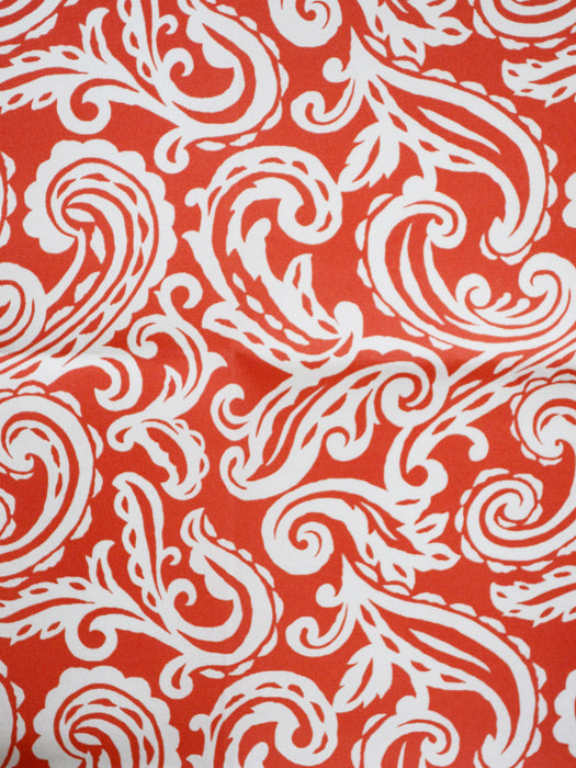 coral outdoor fabric, coral paisley outdoor fabric, coral designer fabric