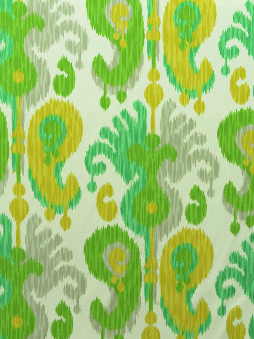 outdoor fabric, ikat print, designer fabric