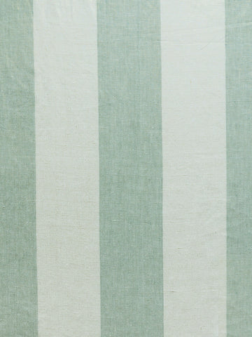spa blue stripe print, blue stripe print, spa blue wide stripe fabric