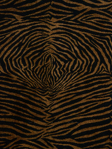 black and brown animal print, black and brown zebra print, black and brown designer fabric