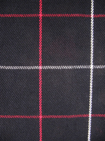 LINEAR PLAID BLACK/RED/WHITE