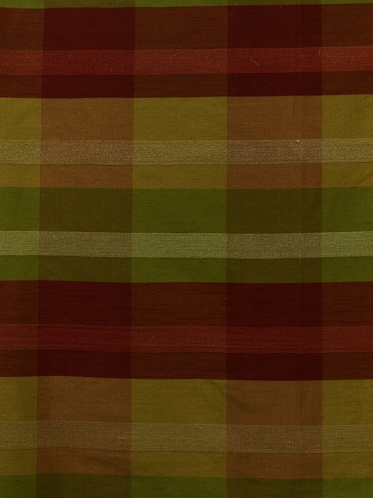 red and green check silk fabrics, large check drapery fabrics, best online fabric store in atlanta