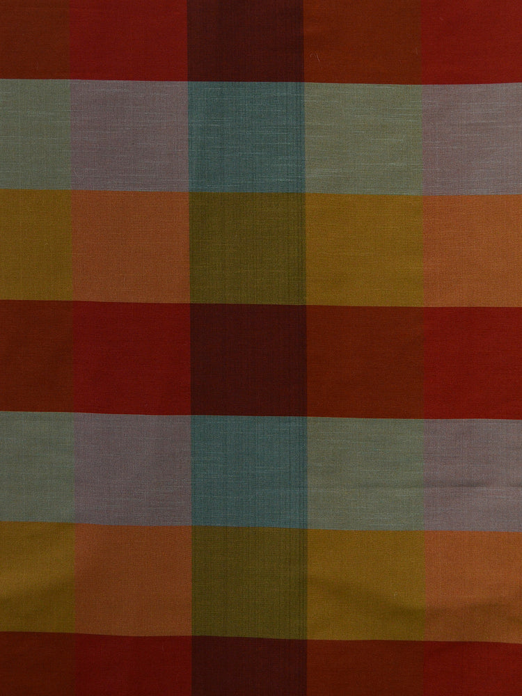 red check silk fabrics, large check drapery fabrics, best online fabric store in atlanta