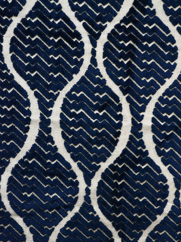 navy cut velvet fabrics, navy designer fabrics, navy home decor