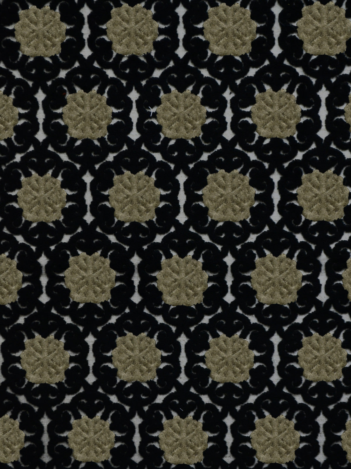 black cut velvet fabrics, black designer fabrics, black home decor