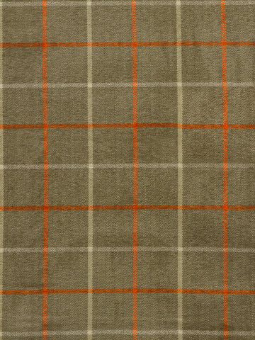 orange check fabric, check upholstery fabric, designer fabric