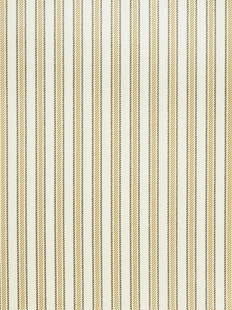 gray ticking stripe, gold ticking stripe, atlanta home design