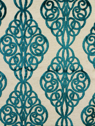 teal geometric fabrics, teal designer fabrics, teal home decor