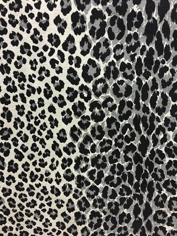 leopard print upholstery fabric, black and white animal prints, designer home decor