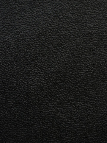 black vinyl, black faux leather, black cowhide