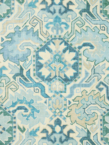 blue kilim fabrics, blue decorator fabric, best fabric store in atlanta