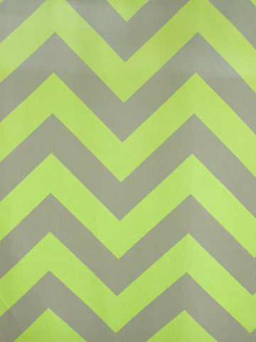 CHEVRON 2 LIME/GREY (Sheer)