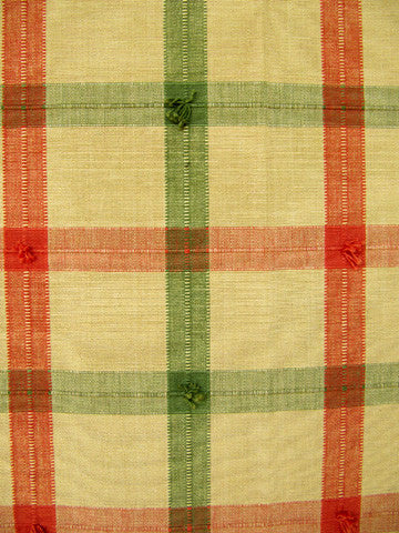 GUILFORD PLAID D2076 SIENNA/WH