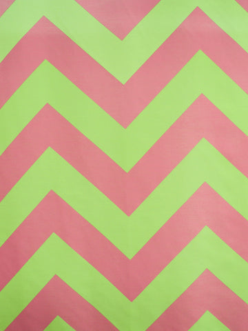 CHEVRON 2 LIME/PINK (Sheer)