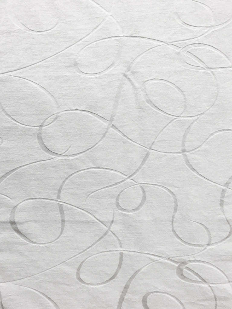 white matelasse fabric, white quilted fabric, white upholstery fabric