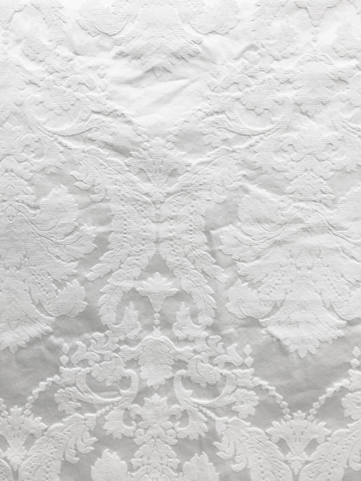 white matelasse fabric, white embossed fabric, white upholstery fabric