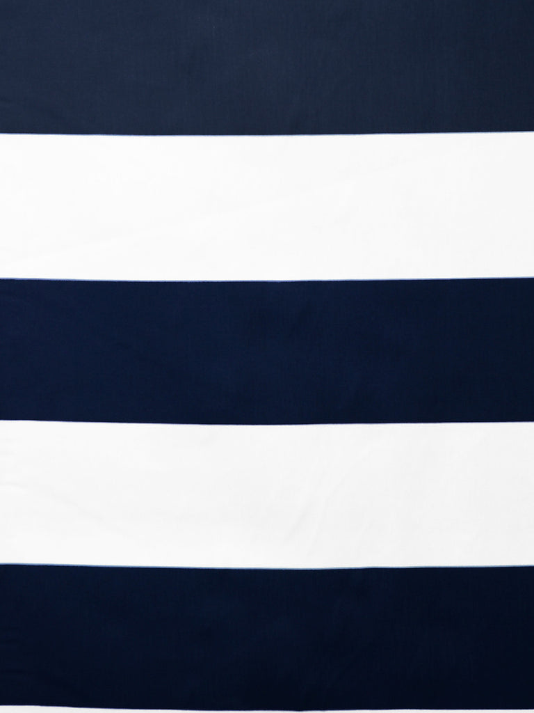 navy stripe print, indigo stripe print, blue wide stripe fabric