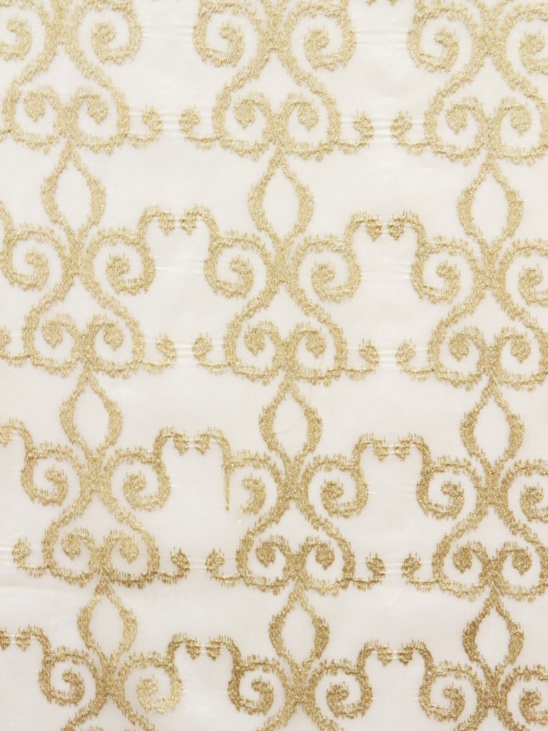 gold sheer fabrics, gold damask fabrics, sheer fabric by the yard