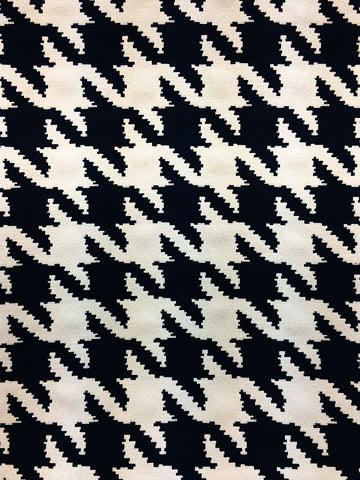 LARGE HOUNDSTOOTH INDIGO