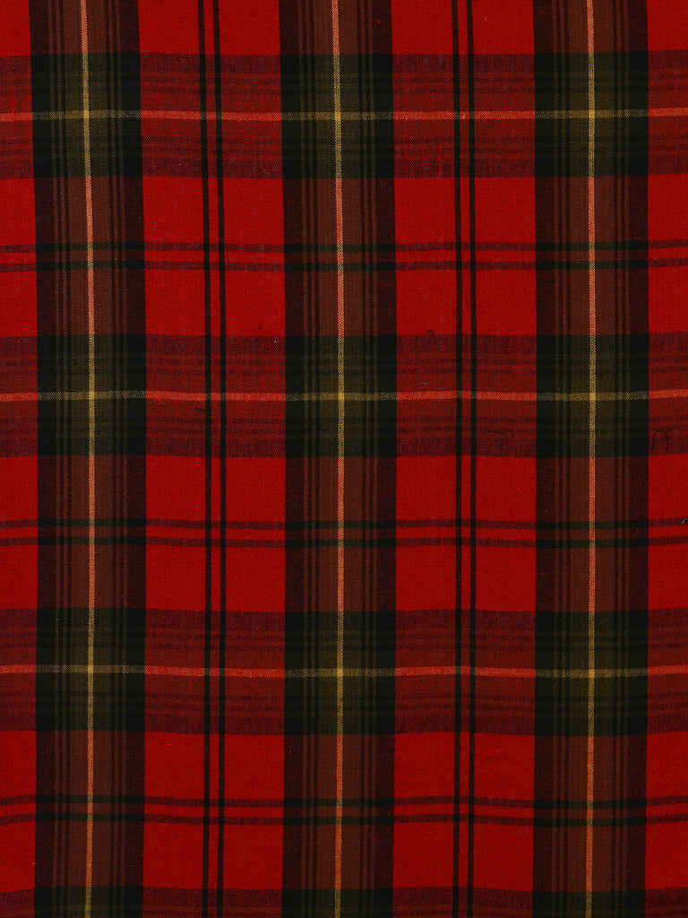black and red plaid, black and red buffalo check, black and red upholstery fabric