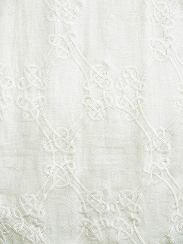 LOOP EMBROIDERY WHITE ON WHITE (Sheer)