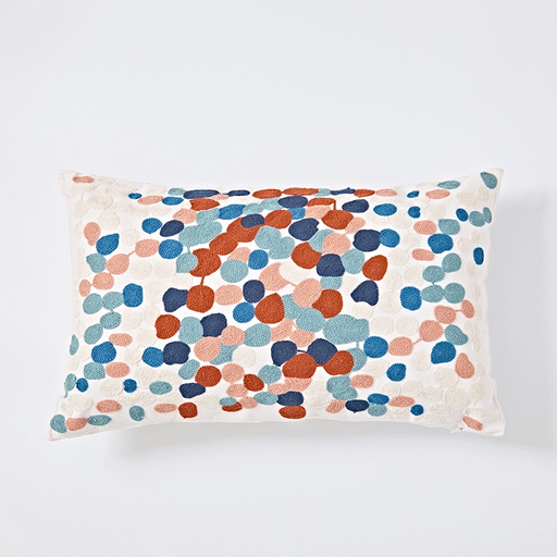 MODERN EMBROIDERY PILLOW COVER