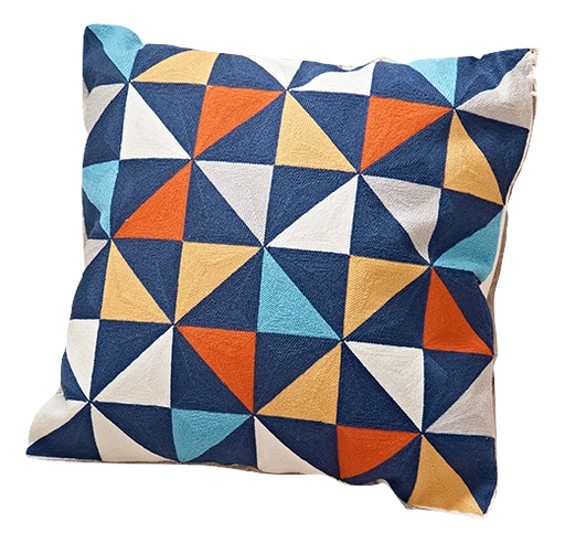 GEO EMBROIDERY PILLOW COVER