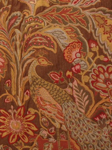 bird design fabric, upholstery fabric, embroidered fabric