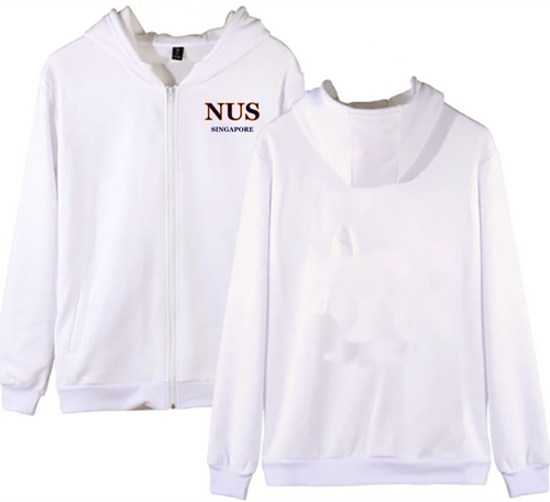 #23 NUS Unisex Hoodie with Zip (5 Colours)