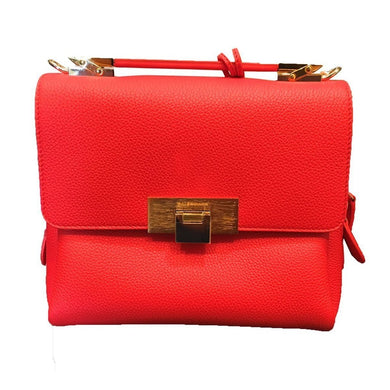Balenciaga Women's Rogue Le Dix Red Leather Luxury Crossbody Handbag