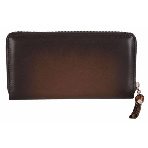 Gucci Women's Brown Ombre Leather Zip Around Large Wallet