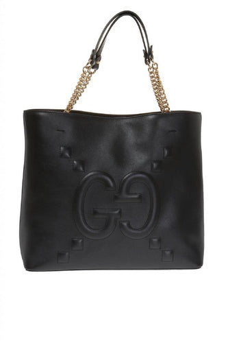 Gucci Embossed GG Dadini Apollo Double Top Handle Tote with Chain